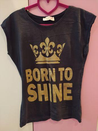 Дамска черна тениска