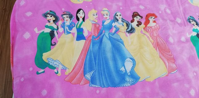 Lenjerie pat copii cu prințese 5 piese