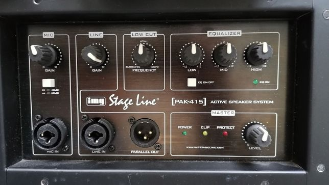 IMG Stage Line PAK-415, preamplificator si amplificator 700W
