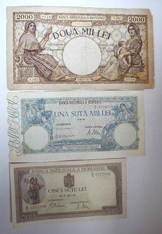 3 bancnote vechi ROMÂNIA