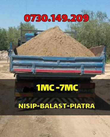 Vand/Transport nisip,balast,pietris,margaritar,pământ negru vegetal