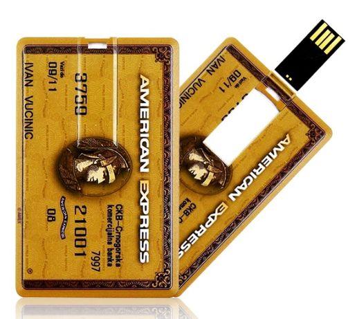 USB Флаш Памет 64 GB Кредитна Карта Памет Ключодържател