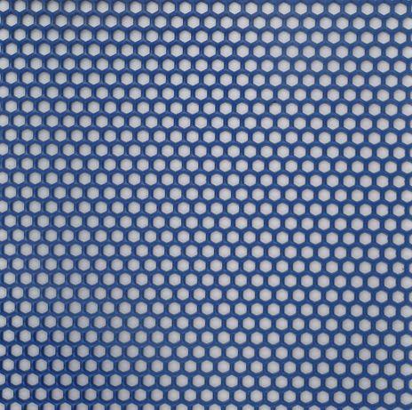 Covor din pvc tip fagure Honeycomb verde, albastru