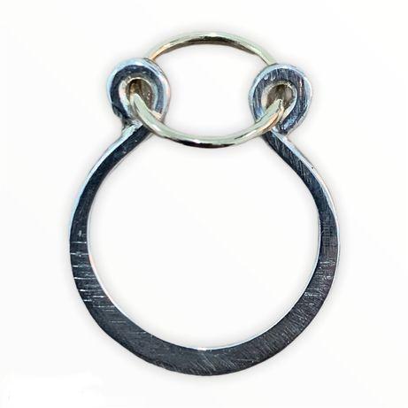 Inel aur argint kinetic handmade
