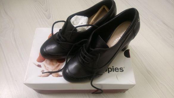 """Дамски обувки """"Хъш пъпис"""", естествена кожа, 38 номер"""