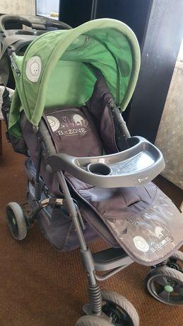 Бебешка количка с кошница, чанта и дъждобран