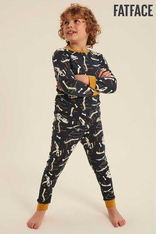 Пижама за момче на динозаври FatFace 4-5г