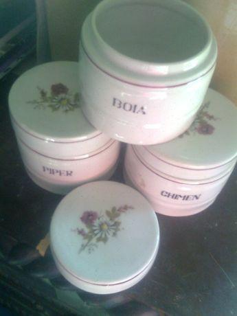 lot 3 vase portelan albAlba Iulia,capac,piper,boia,chimen+VAS CANDELA