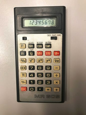 Ретро-калкулатор MR 609 - 3V - 8 разряден - работещ - Made in GDR
