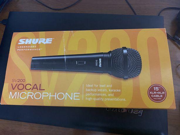 Продам новый микрофон  shure sv200
