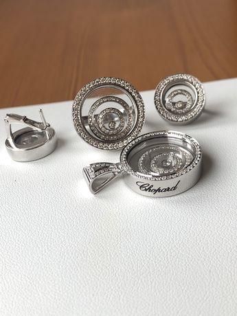 Chopard золотой набор с бриллиантами