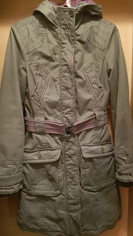 Куртка - парка, тканевая, весна-осень, демисезон