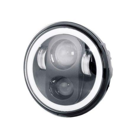 """1бр. Кръгъл LED фар 5.75"""" 80W H4 букса, къси, дълги, дневни и мигач"""