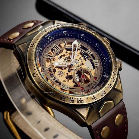 Чисто нови стилни механични мъжки часовници Vintage style