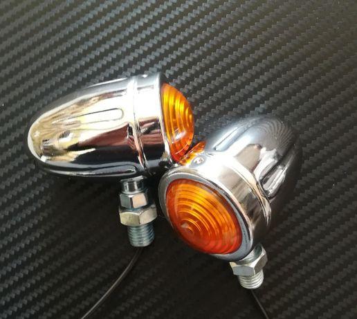 Мото мигачи хром никел Модел :1736 чопър харли мото осветление
