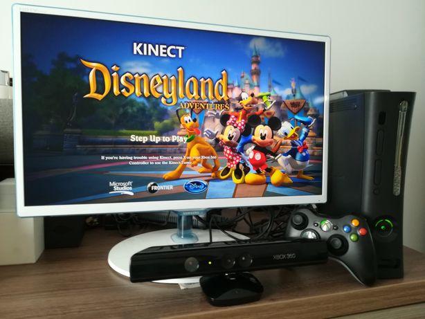 Consola Xbox 360 Slim Kinect + 82 jocuri pt. copii, fara violenta