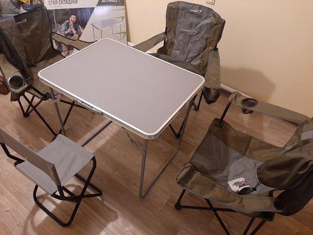 Складное кресло (раскладной стул), стол для пикника