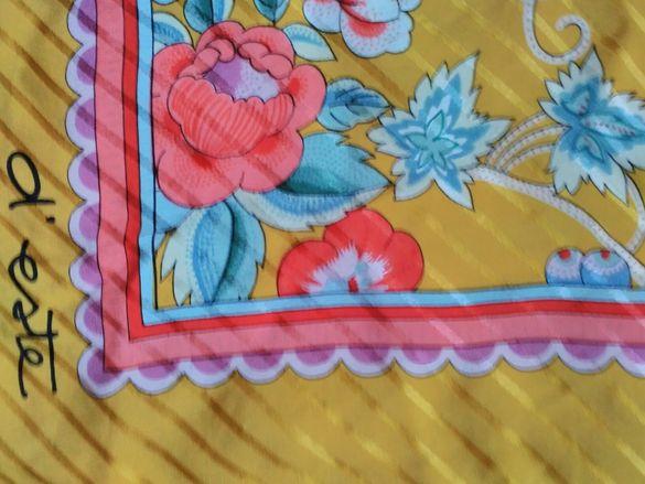 """Квадратна кърпа от коприна(шал) """"D'este"""""""