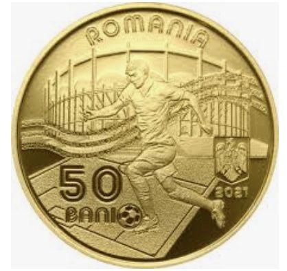 Moneda proof 50 de bani Euro 2020