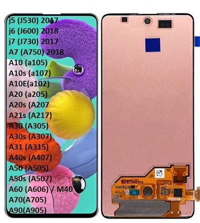 Дисплей за Samsung A7/a21s/a30 display touch lcd самсунг