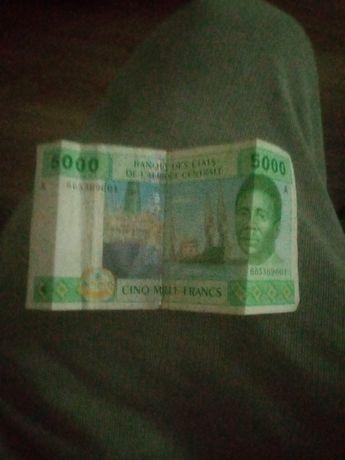 Vând schimb 5000 francs Africa
