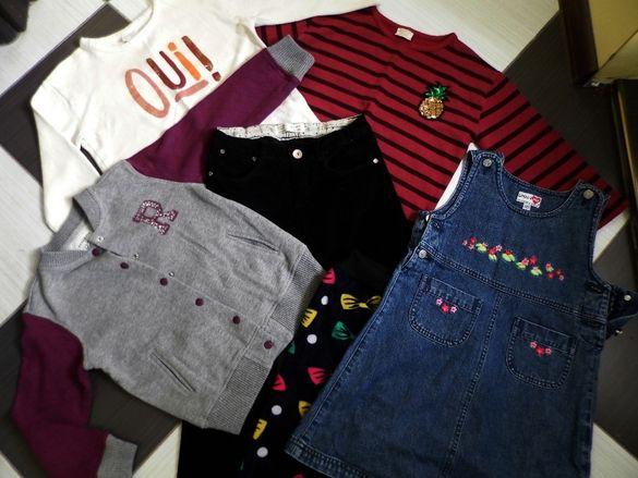 цената е обща, 6 части :дънки и блузи zara, яке/жилетка reserved и др