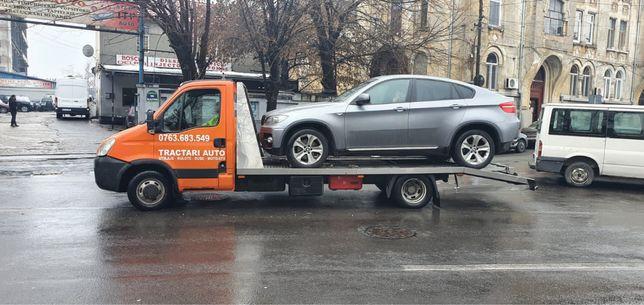 Tractari auto utilitare Transport utilaje rulote Rampa platforma auto