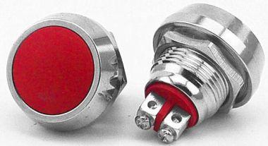Intrerupator,metalic,antivandalism,fara retinere-2A/36V-23x18mm dif c