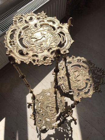 Suport din bronz pentru ghivece flori, obiecte decorative, 3 polite