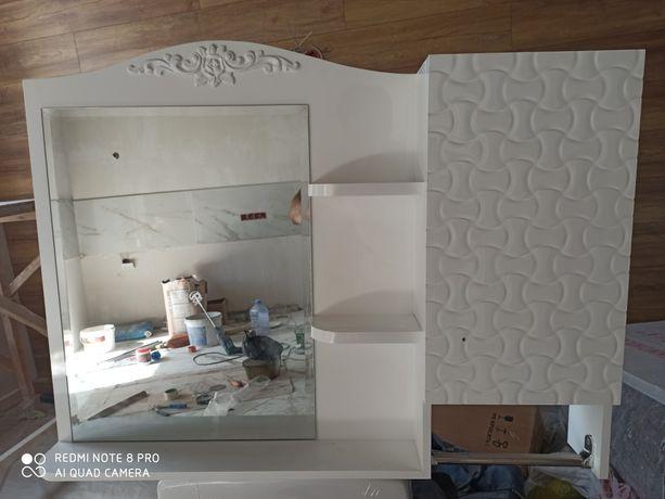 Новая зеркало для ванной комнаты.