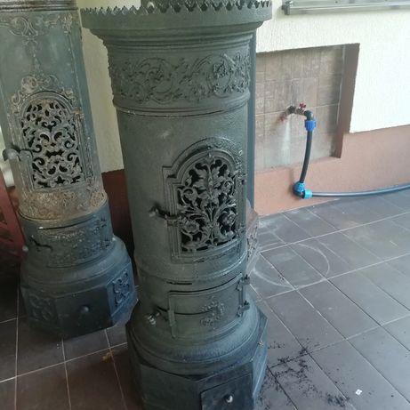 Vând soba veche din fontă completă fabricata în România