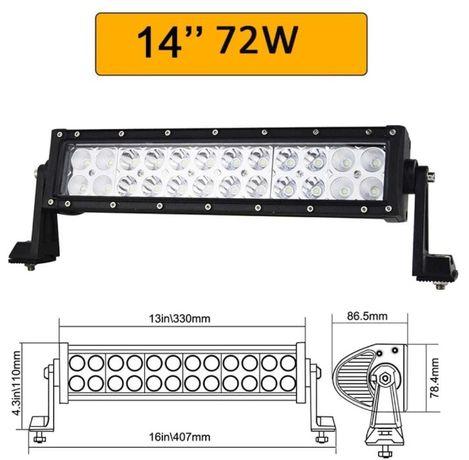 Proiector LED Bar 72W 33cm OFFROAD 12/24V Auto SUV Utilaj Lumina Lucru