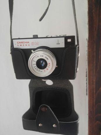 Ретро лентов фото апарат Смена , нов, работещ в кожен калъф
