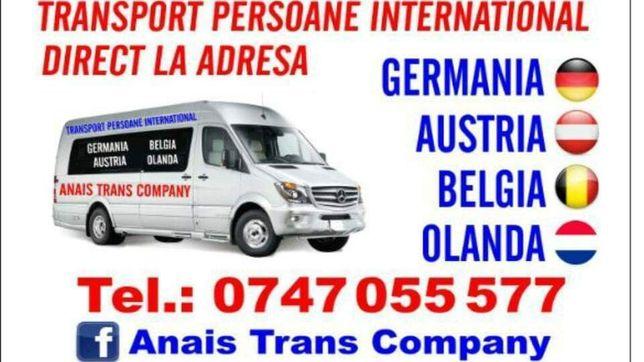 Transport persoane Germania -Cehia- Belgia - Olanda