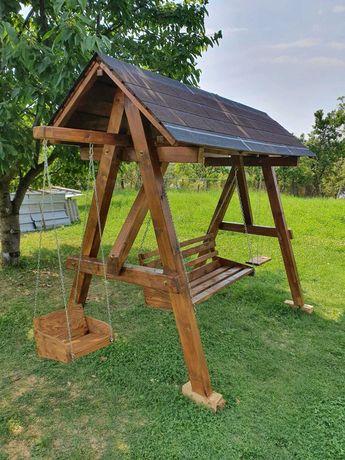 Leagan lemn masiv gradina