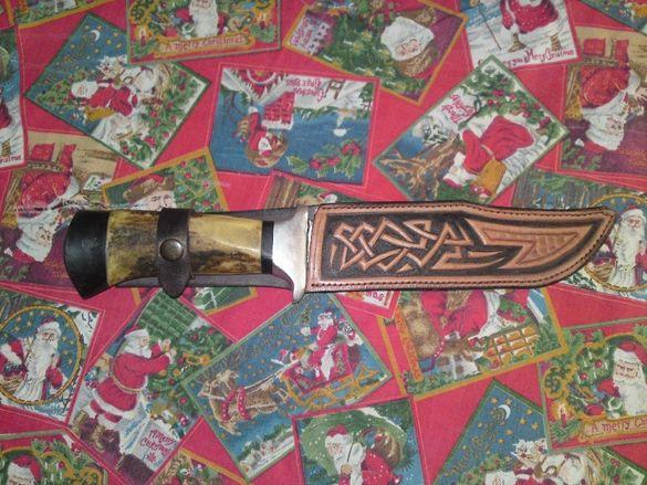 Продавам ловен нож антика стомана 80те 4х13 старото матерял