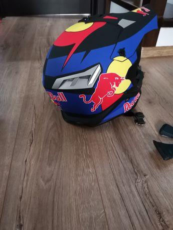 Set casca, ochelari și mănuși Red Bull moto downhill