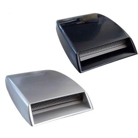 Декорация въздуховод за преден капак - Сив / черен цвят
