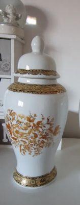 cadou inedit si rar-colectia Ming-vaza cu capac,pictate manual -aur