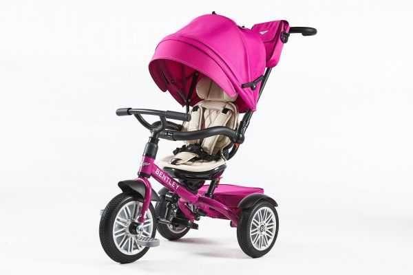 Tricicleta BENTLEY 6 in 1 Pink Fuchsia pentru copii. Carucior Bentley