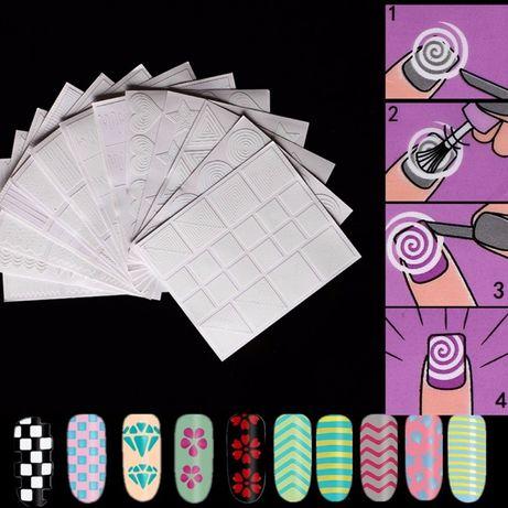 Комплект от стикери / шаблони за декорация-12бр