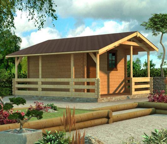 Сглобяеми дървени преместваеми къщи масив 26м2 - дървени бунгала масив