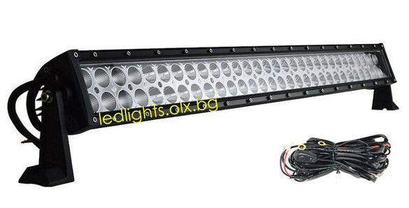"""Ликвидация! 32"""" 3D LED BAR 180W + окабеляване лед лайт бар"""