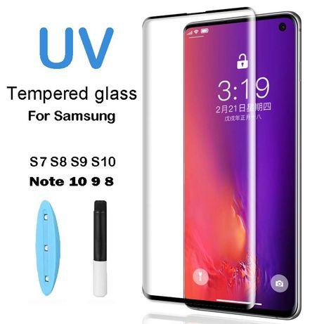 Samsung S10 S10 Plus S20 S20+ Folie Sticla Curbata Ultraviolet + Lamp