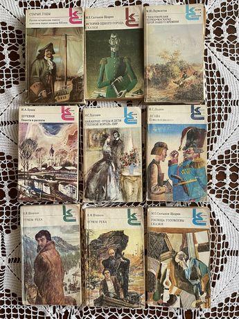 Книги: угрюм река 2 части , левша и т.д.