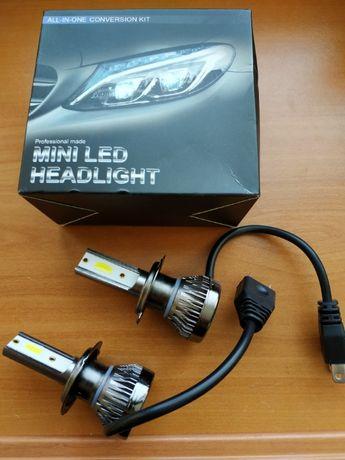 Автомобилни LED крушки H7 2бр. 8000 лумена
