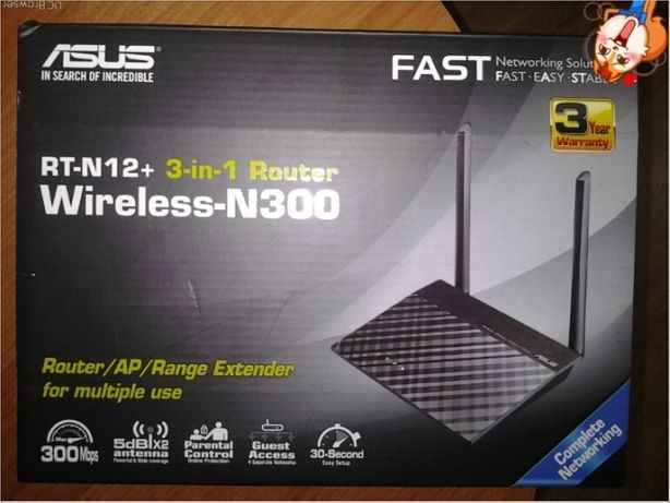 Router Asus Wireless N300 3 in 1