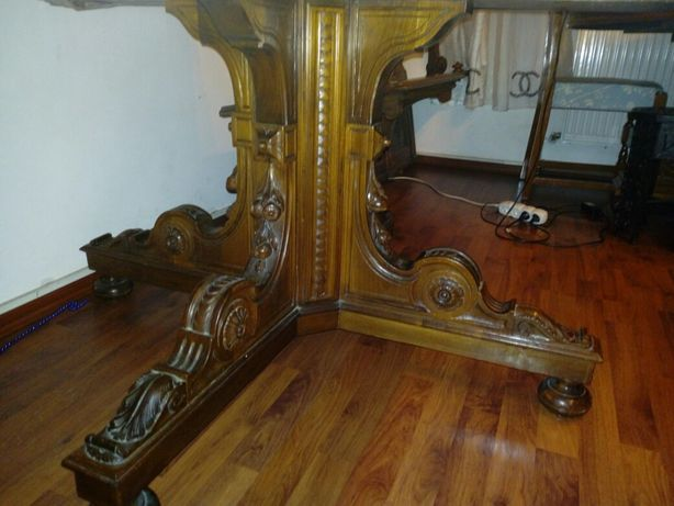 Masa Florentina sculptata lemn masiv cu scaune
