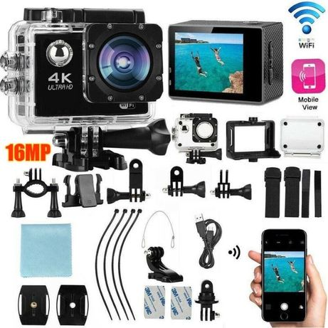Истинска WiFi FullHD Action Camera водоустойчива камера тип GoPro