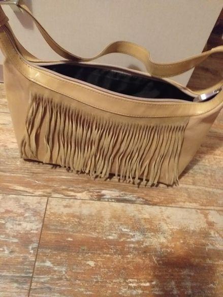 Средна чанта естествен велур